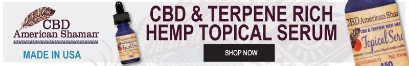 Cbd terpene rich topical serum