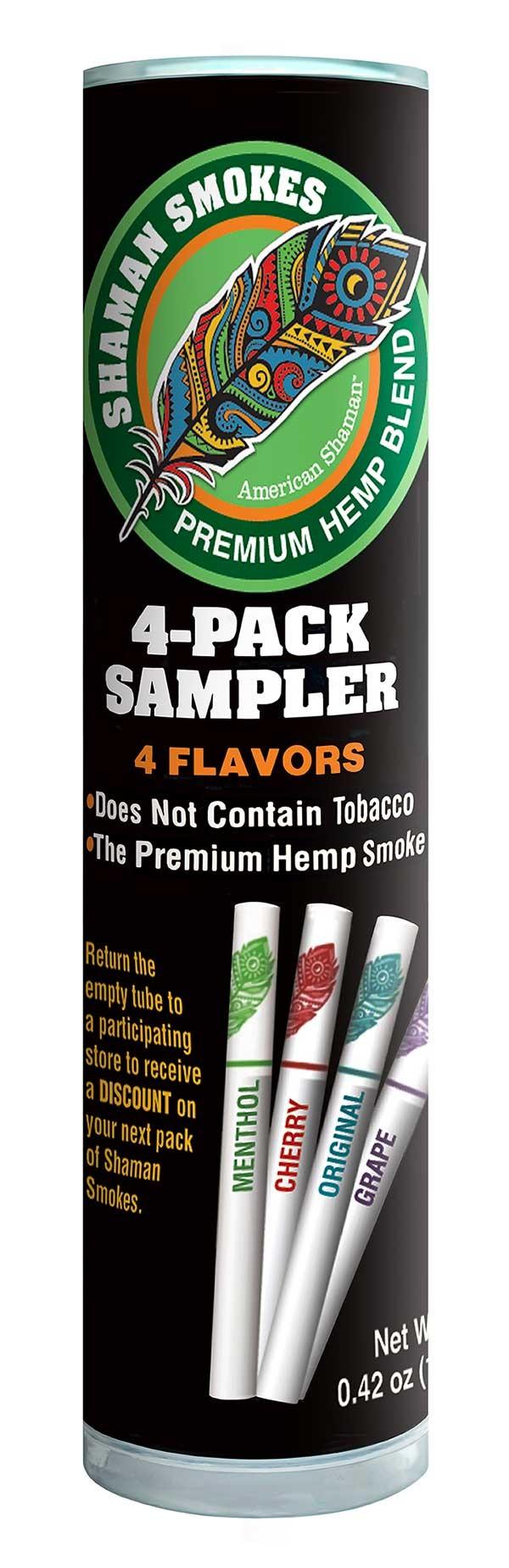 4 Pack CBD Cigarette Flavor Sampler