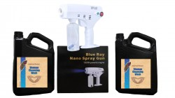Blue Ray Nano Spray Gun + 2 Gallons of Hypochlorous Acid Wash