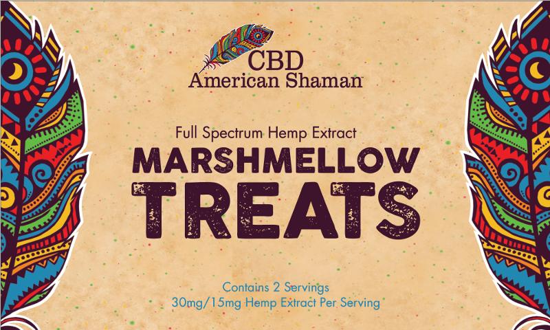 CBD American Shaman CBD Krispy Cereal Marshmallow Treats