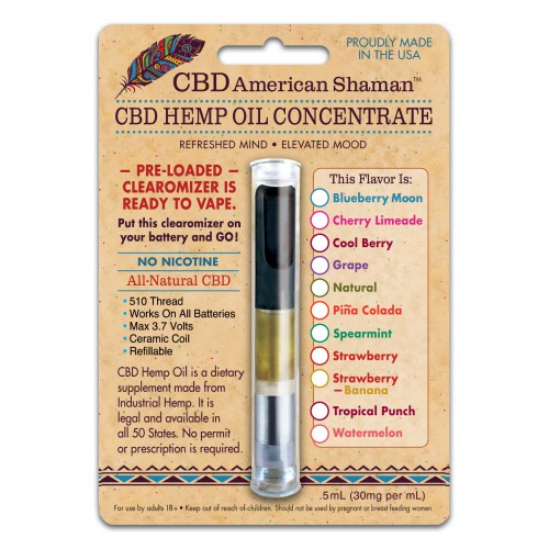 Terpene Rich Hemp Oil Clearomizer THC Free